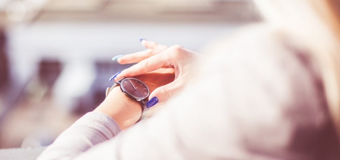 Woman Checking The Time