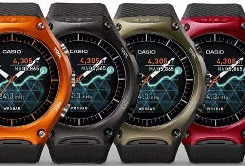 Cấu trúc hiển thị của đồng hồ thông minh casio watch wsd-f10