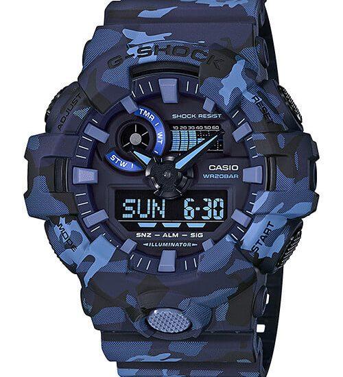 Siêu phẩm đồng hồ Casio Camouflage G-Shock GA-700CM hot năm 2018