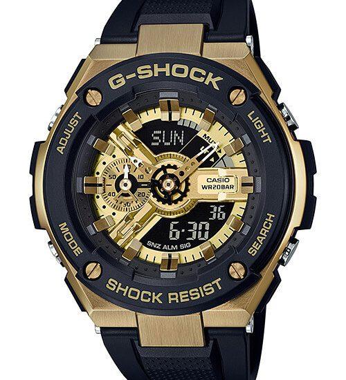 Cùng khám phá đồng hồ G-Shock G-STEEL GST-400G-1A9 Black and Gold