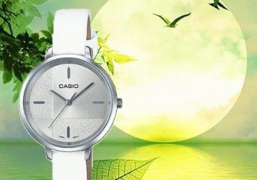 Đồng Hồ Nữ Casio LTP-E152L-7E dây da màu trắng trẻ trung thanh lịch