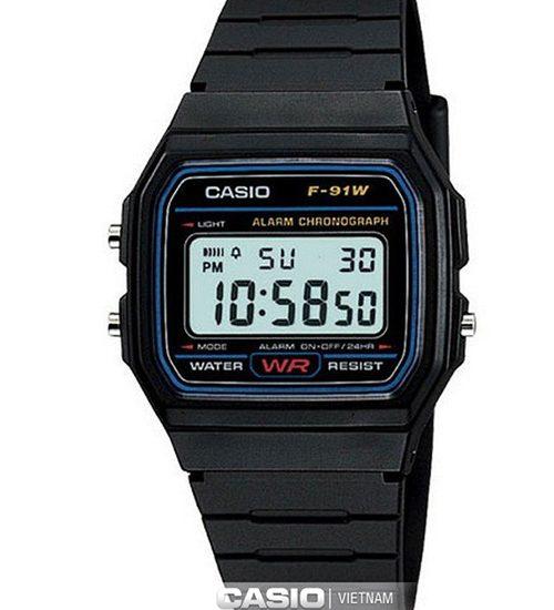 Đồng hồ Casio F-91W-1DG có được bảo hành không?