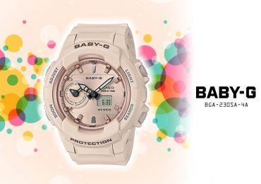 Ngắm đồng hồ Casio Baby-G BGA-230SA-4A dây nhựa chống nước 100m