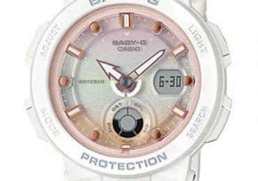 Khám phá đồng hồ nữ Casio Baby G BGA-250-7A2 màu trắng ấn tượng