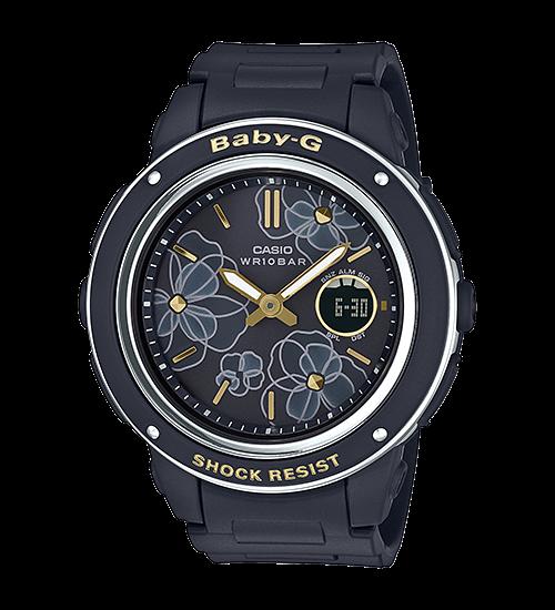[Baby-G 2018] BGA-150FL – Hoa trên mặt đồng hồ cá tính ấn tượng