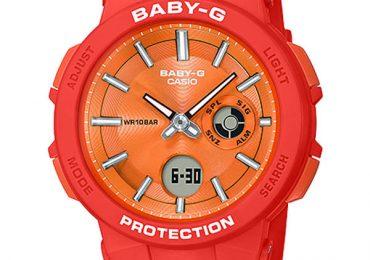 Đồng hồ nữ Casio BGA-255-4A dây nhựa màu cam cá tính