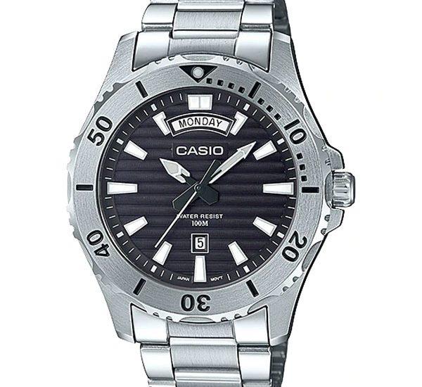 Đánh giá đồng hồ Casio MTD-1087-1AVDF dây kim loại thể thao