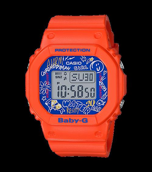 Casio Baby G BGD-560SK-4 Graffiti màu cam cá tính cho phái đẹp