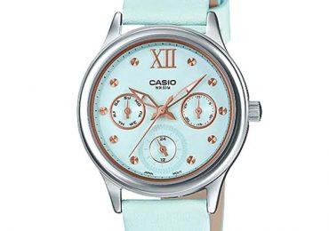 Phiên bản đồng hồ Casio Nữ LTP-E306L-2AVDF Dây Kim Loại mới nhất 2019