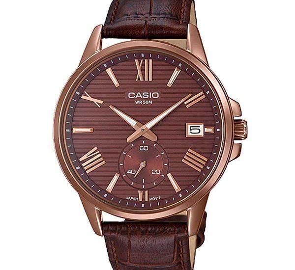Đồng hồ Casio Nam MTP-EX100RL-5AV Dây Da ấn tượng nhất năm 2018