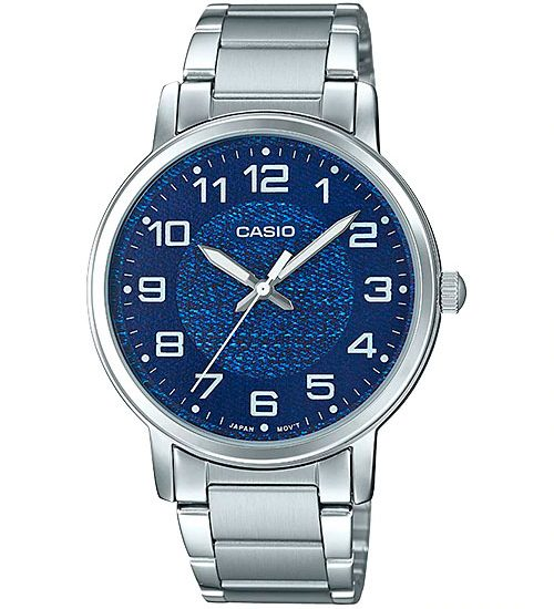 Đồng Hồ Nữ Casio LTP-E159D-2B dây đeo kim loại nền mặt xanh cá tính