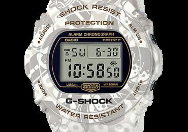 "G Shock 2019: DW-5700SLG-7JR – Phiên bản đặc biệt ""Thần Shichifuku SHICHI – FUKU – JIN"""
