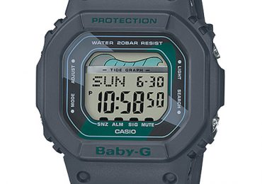 Đồng hồ Casio Baby-G BLX-560VH-1 dây nhựa màu đen kết hợp mặt vuông cá tính