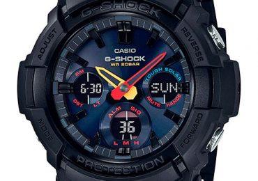 Đồng hồ G-Shock GAS-100BMC-1A dây nhựa màu đen đậm chất thể thao