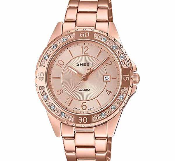 Đồng hồ Sheen SHE-4532PG-4A dây kim loại mạ vàng