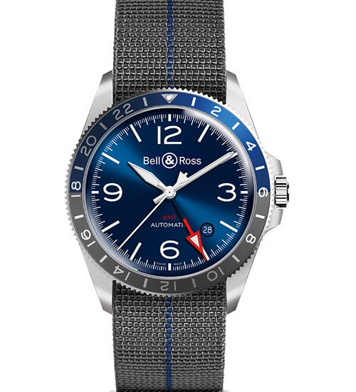 Khám phá đồng hồ Bell & Ross V2-93 GMT Blue đỉnh cao đồng hồ Pháp