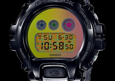 Ra mặt bộ đôi đồng hồ Casio G Shock DW-6900SP Kỷ niệm 25 năm vỏ và màn hình màu