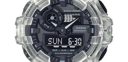 Bộ 3 mẫu đồng hồ Casio G-Shock Dây Nhựa Trong Mới Nhất 2021